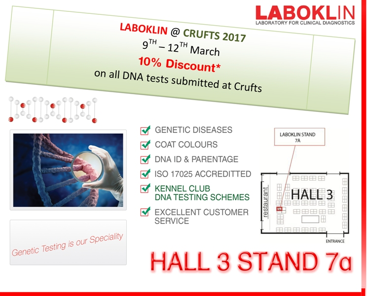 LABOKLIN Special offers at Crufts 2017
